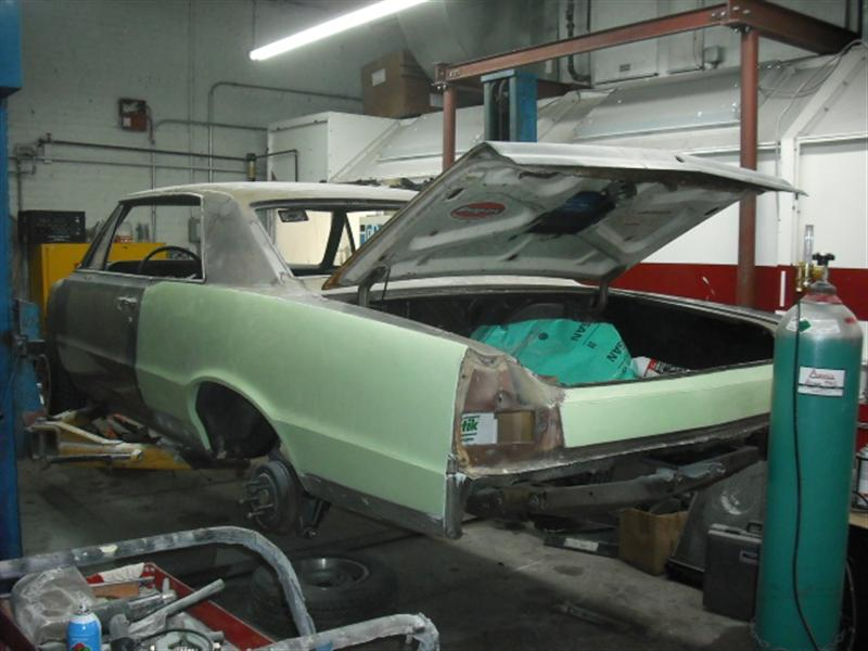 1965 GTO in bodyshop