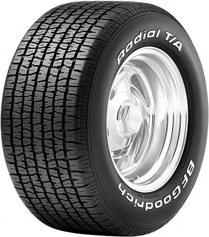 BF Goodrich TA Radial raised white letter tires