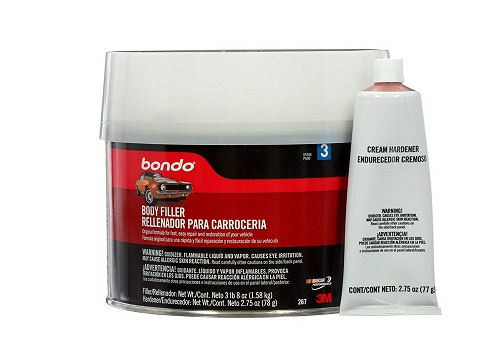 Bondo body filler to repair body panels