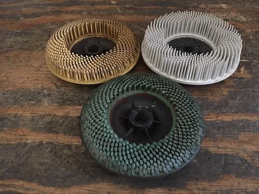 bristle disc attachment for automotive body repair