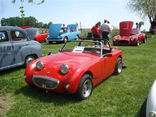 Austin-Healey Bug-eye Sprite at classic British car show