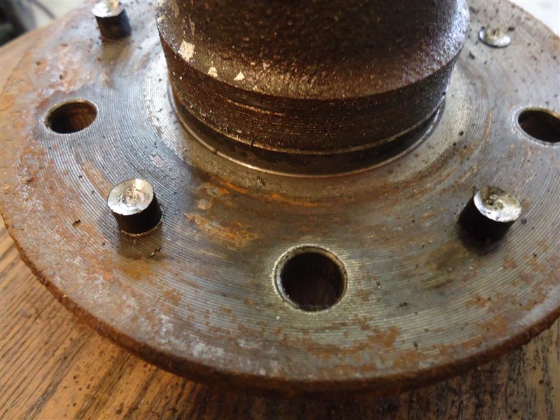 Brake Rotor Rivets : Corvette rotor removal