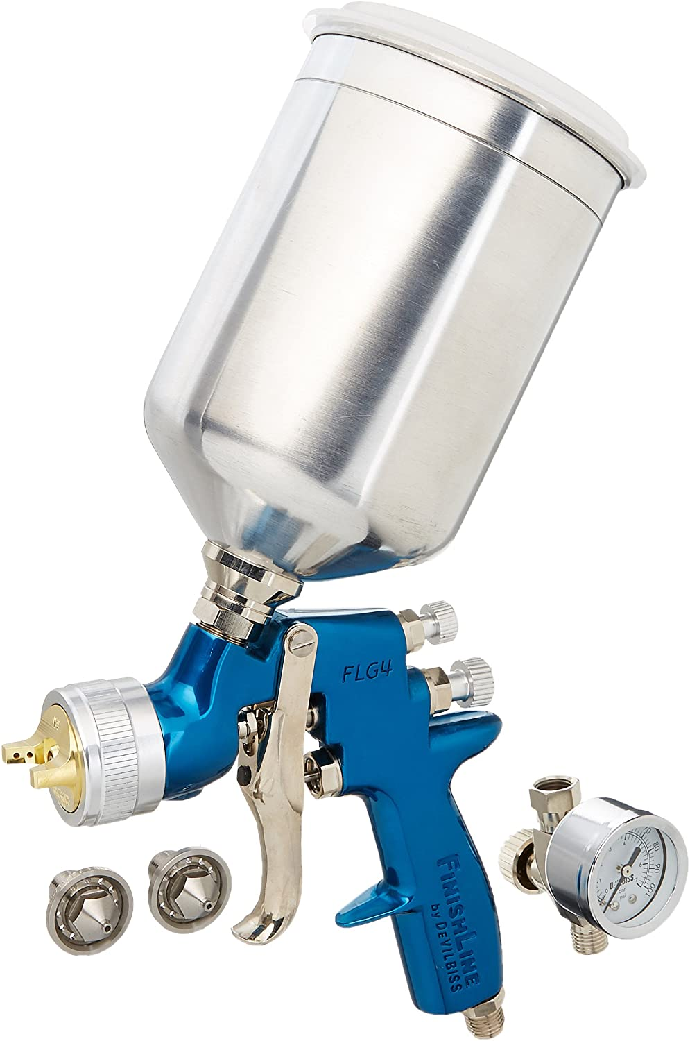 DeVilbiss 803558 Finishline 4 FLG-670  HVLP Gravity Feed Paint Gun