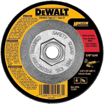 grinding disc on angle grinder