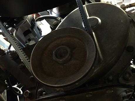 Willys Jeep CJ2A crankshaft pulley