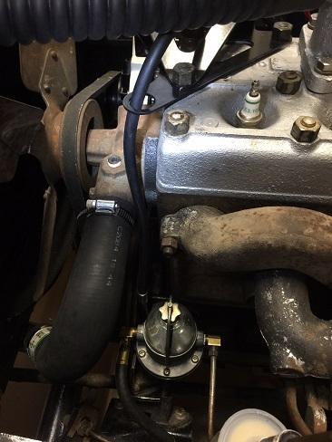 Jeep CJ2a install fuel pump
