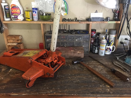 rebuild an old floor jack