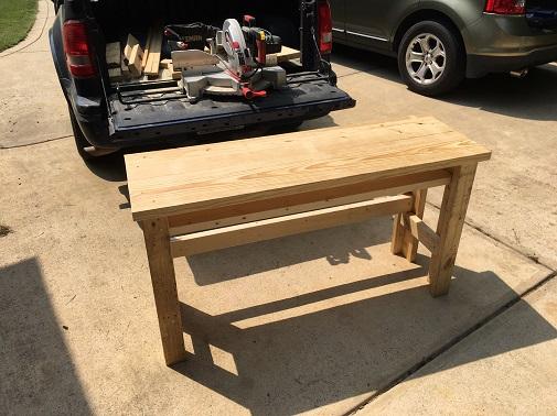 diy wood work table