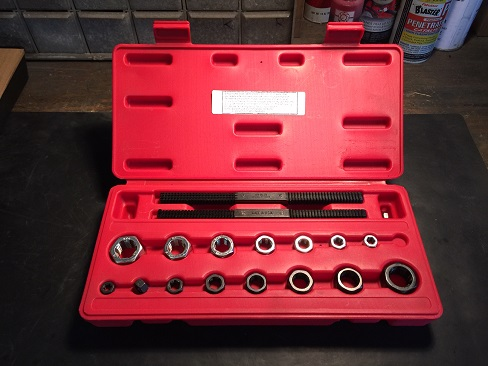 tap and die set for automotive engine build