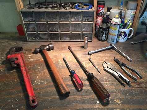 tools needed to repair an old floor jack