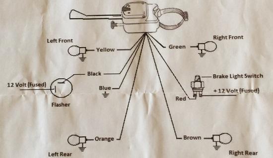 turn signal switch wiring diagram