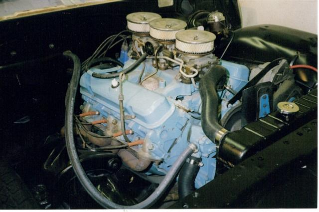 1965 GTO Tri-Power engine