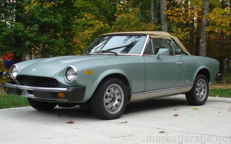 Fiat Spider is a good classic car to restore
