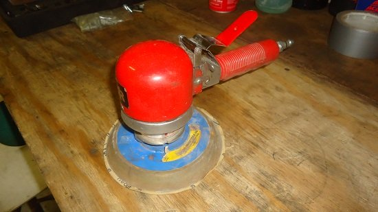 dual action orbital air sander
