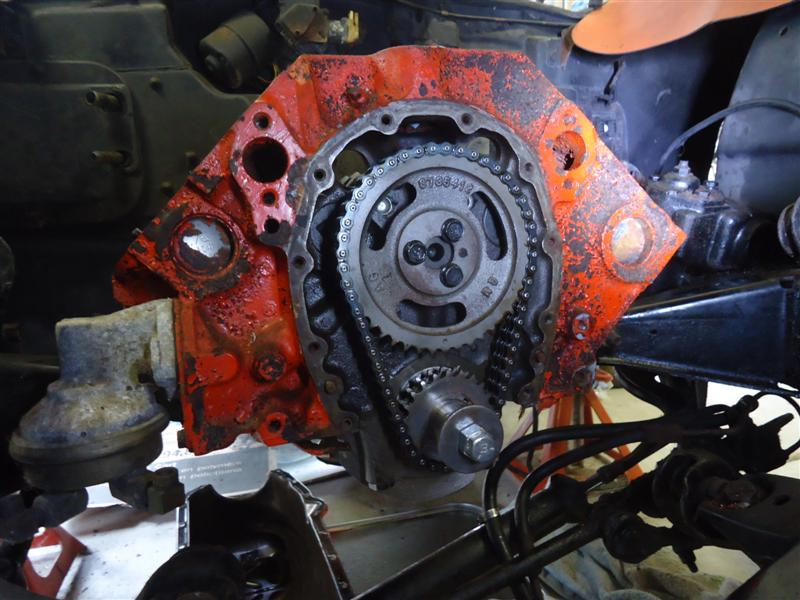 removing timing chain from 327