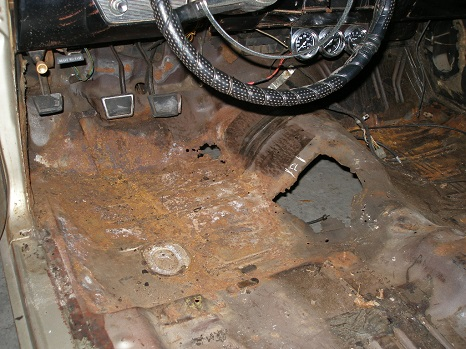 replace rusty floor pans