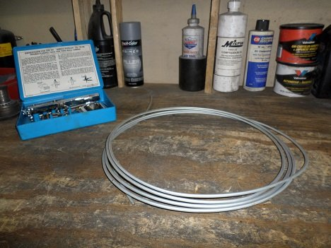 roll of steel brake tubing