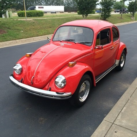 classic air-cooled VW Beetle restored