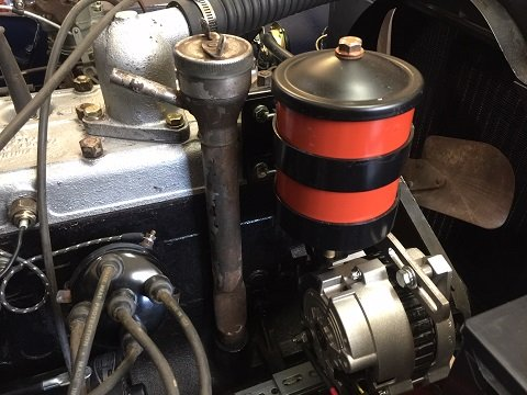 Jeep CJ oil filter canister installation