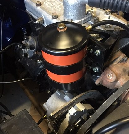 Willys Jeep oil filter canister installation